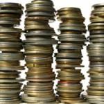 pile of savings change